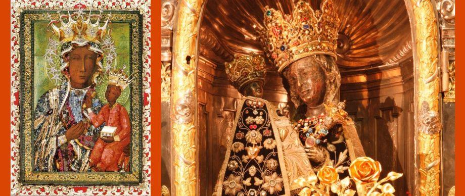 Schwarze Madonna von Tschenstochau und die Schwarze Maria von Altötting (Foto: Heiner Heine)
